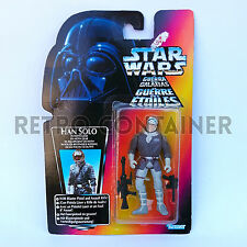 STAR WARS Kenner Hasbro Action Figure - POTF POTF2 - Han Solo Hoth (Orange Card)