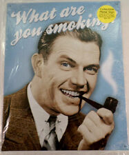 What Are You Smoking?  Funny Metal Sign Pub Game Room Bar
