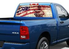 US USA Army Flag patriotic strong Rear Window Decal Sticker Pick-up Truck SUV 2