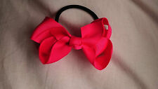 "3.3"" Grosgrain Ribbon Bow Hair Elastic Ponytail Hair Band Bobble Girls/Ladies"
