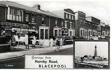 Blackpool Hornby Road Tom Moore Shop unused sepia RP old postcard Constance