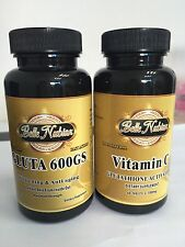 GLUTA 600GS WHITENING AND ANTI AGING PILLS +VITAMIN C GLUTATHIONE ACTIVATOR