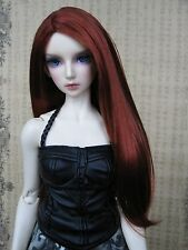 "8-9"" 1/3 BJD Hair IP SD doll wig Super Dollfie Natural red straight M-mohair"