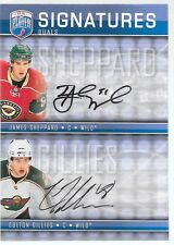 08/09 Be A Player Signature Series Dual Auto Sheppard Gillies S2-SG Wild