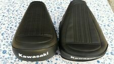 KAWASAKI KV75 MT1 REPLACEMENT SEAT COVER WHITE DYED LOGO 1979 MODEL.