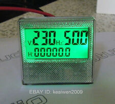 1PHASE 300V Generator Digital Voltage Hour Frequency LCD Combo Meter Gauge 3in1