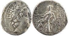 SIRIA VI DE ANTIOQUÍA,DRACMA PLATA 144-142 AV JC,APOLLON SESIÓN FUE IZQUIERDA