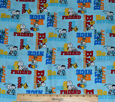 PEANUTS FABRIC! BY THE HALF YARD! SNOOPY~CHARLIE BROWN~LUCY~WOODSTOCK~LINUS!
