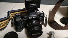 Minolta Maxxum 7000 AF 35 MM Camera Lens Flash Manuals Bag Slide Duplicators Etc