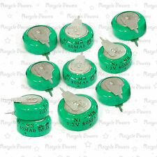 10 pieces Ni-MH 80mAh 1.2V button Rechargeable Battery with tab