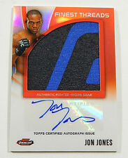 2012 Finest UFC Jumbo Threads Fighter Relics Jon Jones Autograph Auto