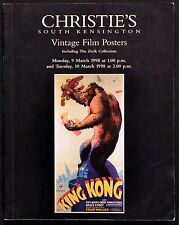 VINTAGE FILM POSTERS 1998 KING KONG UK AUCTION CATALOGUE