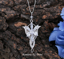 The Lord of the Rings Arwen Evenstar Crystal Pendant Necklace White Gold Plated