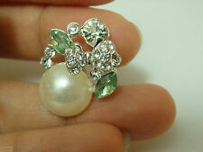 2 diamante buttons rhinestone crystal bow pearl embellishment sewing 25mm-b31