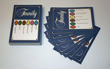 50 QUIZ Pursuit Family Edition Cards, Blu Adulto, ANNO 1988 pub Quiz ecc.