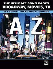 The Ultimate Song Pages Broadway Movies Tv A To Z 252 Songs PianoVocalChords