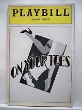 ON YOUR TOES Playbill NATALIA MAKAROVA / DINA MERRILL Opening NYC 1983