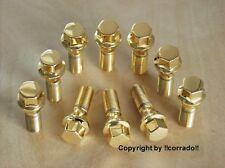 vergoldet  Felgen-Radbolzen Radschrauben Schrauben M14x1,5x33_BBS,OZ,RH  gold
