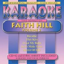 FREE US SH (int'l sh=$0-$3) NEW CD Karaoke: Karaoke-The Songs of Faith Hill (Vol