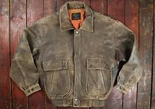 VTG REPRO US ARMY AIR FORCES TYPE G-1 BROWN LEATHER FLIGHT BOMBER JACKET MEDIUM