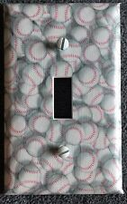 BASEBALL LIGHT SWITCH COVER BASEBALL KIDS ROOM HOME RUN WALL DECOR