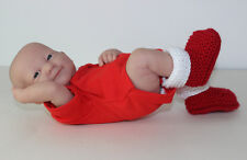 PRINTED INSTRUCTIONS -PREEMIE BABY SIMPLE CHRISTMAS BOOTIES KNITTING PATTERN