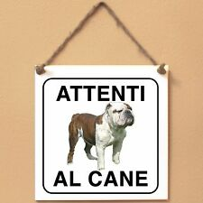 Old English Bulldog 1 Attenti al cane Targa cane cartello ceramic tiles