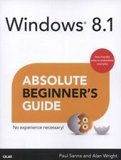 LN Microsoft 'Windows 8.1 Absolute Beginner's Guide' by Sanna &Wright Paperback