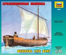 ZVEZDA 9033 MEDIEVAL LIFE BOAT SCALE MODEL KIT 1/72 NEW