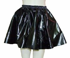 PVC Circle Skirt  Large Shiny BLACK  Plastic Vinyl Roleplay Sissy Adult Baby