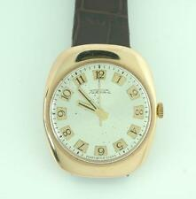 Vintage Russian Men's 14K Rose Gold Silver Dial Self Winding Mechanical Watch