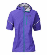 NEW North Face Womens S Starry Purple Short Sleeve Waterproof Jacket Ultra Lite