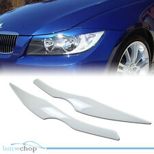 Painted BMW E90 Sedan 3-Series Headlight Eyelids Eyebrows 06 #300 White ●