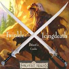 Drizzt Do'Urden Scimitar Sword Set Twinkle & Icingdeath Steel Forgotten Realms
