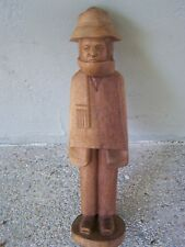 Hand Carved Wood Andean Man - Made in Ecuador