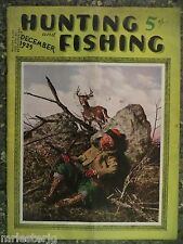 Hunting and Fishing Magazine  December 1935  Ernest Cover  VINTAGE ADS