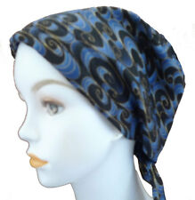Elegant Blue Cancer Hat Chemo Cap Headwrap Hairloss Head Scarf Turban