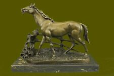 Horse Solid Bronze Collectible Statue Sculpture Original Hot Cast Figurine Art