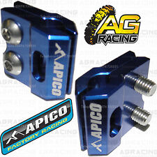Apico Blue Brake Hose Brake Line Clamp For Kawasaki KX 450F 2010 Motocross New
