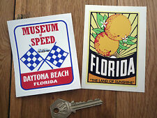 FLORIDA ORANGE DAYTONA Klassisch Amerikanisch auto sticker