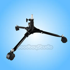 Photography 3 Legs Dolly Fold Wheels Floor Light Stand Video