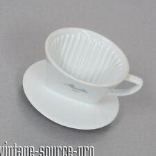 alter Melitta 3 Loch Porzellan Kaffee Filter Weiß Nr. 100 grüne Schrift 50er J.