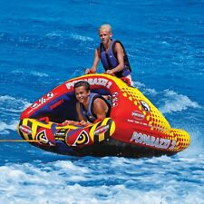 SportsStuff Poparazzi 2 Inflatable Water 2 Rider Stand Tube Boat Towable 53-1752