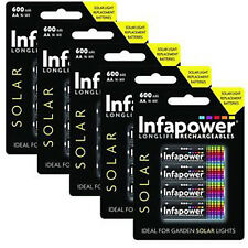 Infapower Rechargeable AA Ni-Mh Solar Light Batteries 1.2v 600mAh 5 x packs of 4