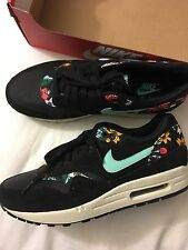 NIKE AIR MAX 1 Print Black Floral Limited Edition Size 11.5 Women's New With Box