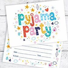 Pyjama party fête d'anniversaire invitations-A6 carte postale taille (pack 10)