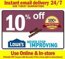 FIVE(5X) Lowes 10% OFF Printable-Coupons-Exp 5/31/17-INSTANT_Delivery