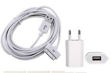 10FT 3M USB Sync Charging Cable with Europe Plug For apple iPod iPhone4 4S White