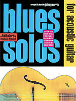 Blues Solos For Acoustic Guitar Learn to Play TAB Music Book & CD