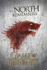 Game of Thrones The North Remembers Poster! Westeros War Iron Throne Never Hung
